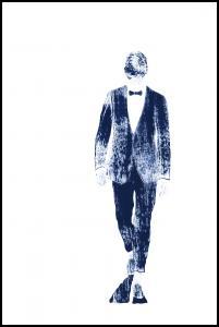 Bildverkstad Pinstriped suit Poster