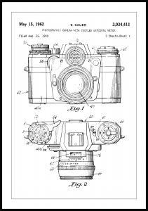 Lagervaror egen produktion Patenttekening - Camera I Poster