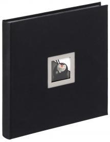 Walther Black & White Album Zwart - 30x30 cm (50 Zwarte pagina's / 25 bladen)