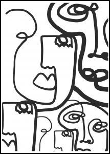 Bildverkstad Graphic Faces II Poster