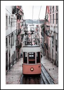 Lagervaror egen produktion Lisbon Cable Car Poster