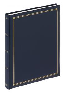 Walther Monza Album Zelfklevend Blauw - 25x30 cm (30 Witte pagina's / 15 bladen)