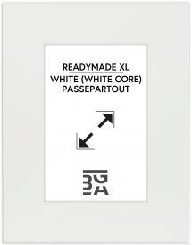 Galleri 1 - Passepartou Passe-partout XL Wit (Witte kern) ) 40x50 cm (20x28,7 - A4)
