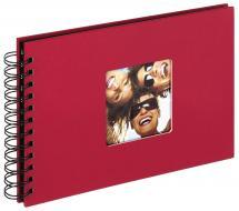 Walther Fun Spiraalalbum Rood - 23x17 cm (40 Zwarte pagina's / 20 bladen)