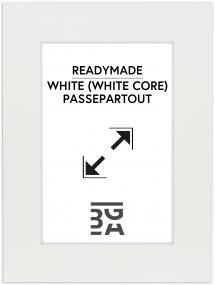 Passe-partout Wit (Witte kern) 30x40 cm (19x29)