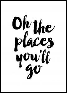 Bildverkstad Oh the places you'll go Poster