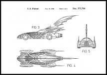 Bildverkstad Patenttekening - Batman - Batmobile 1996 II Poster