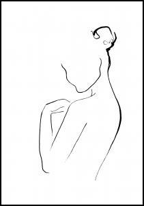 Cora konst & illustration Woman In Ink Poster