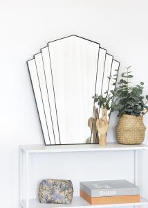 KAILA KAILA Spiegel Fan - Zwart 63x70 cm