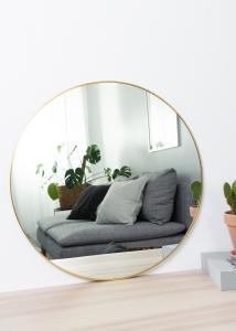 HN - KAILA KAILA Round Mirror - Thin Brass 60 cm Ø