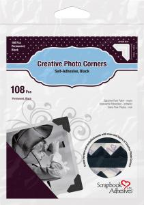 Focus 3L Creative Photo Corners Zwart - 108 st