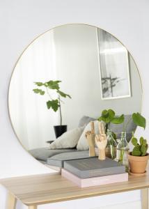 KAILA KAILA Round Mirror - Thin Brass 100 cm Ø