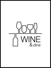 Lagervaror egen produktion Wine & dine - White Poster