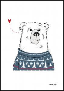 Bildverkstad Winter Bear Poster