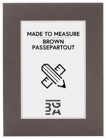 Egen tillverkning - Passepartouter Passe-partout Bruin (Witte kern) - Op maat gemaakt