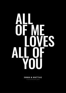 Personlig poster All of me - Black