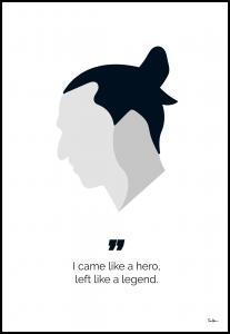 Lagervaror egen produktion Zlatan the legend Poster