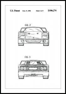 Bildverkstad Patenttekening - Ferrari F40 III Poster