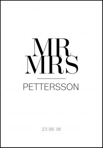 Personlig poster Mr & Mrs