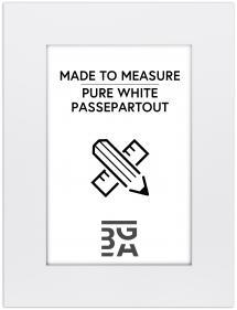 Egen tillverkning - Passepartouter Passe-partout Krijtwit (Witte kern) - Op maat gemaakt