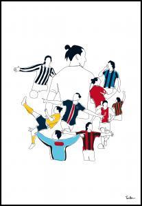Bildverkstad History Of Zlatan Colours Poster