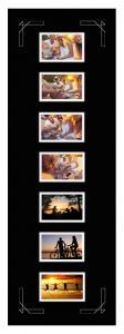 Egen tillverkning - Passepartouter Passe-partout Zwart 30x90 cm - Collage 7 Foto's (9x14 cm)