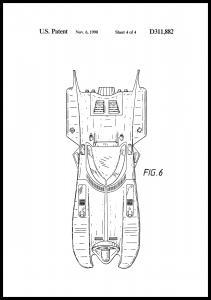Bildverkstad Patenttekening - Batman - Batmobile 1990 IIII Poster