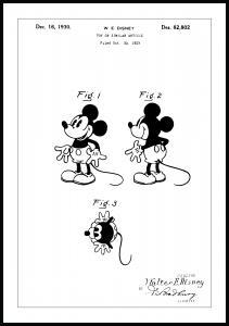 Lagervaror egen produktion Patenttekening - Disney - Mickey Mouse Poster