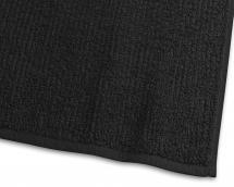Borganäs of Sweden Handdoek Stripe Badstof - Zwart 50x70 cm