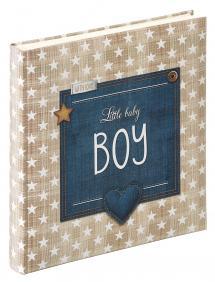 Walther Little Babyalbum Boy Blauw - 28x30,5 cm (50 Witte pagina's / 25 bladen)