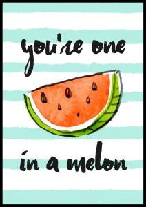 Bildverkstad You´re one in a melon Poster