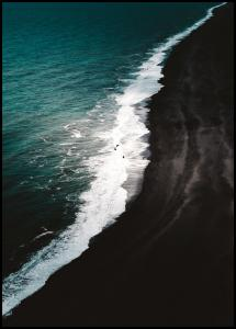 Lagervaror egen produktion Black Beach Poster