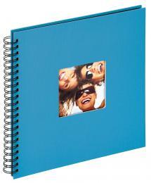 Walther Fun Spiraalalbum Zeeblauw - 30x30 cm (50 Zwarte pagina's / 25 bladen)