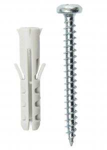 Hallmiba Plug 25 x 5,5 mm met schroef 10-pack