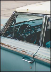 Lagervaror egen produktion Old Blue Car Poster