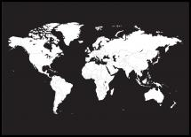 Bildverkstad Wereldkaart Wit Poster