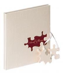 Walther Puzzle Gastenboek - 23x25 cm (144 Witte pagina's / 72 bladen)