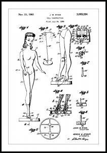 Bildverkstad Patenttekening - Barbie Poster