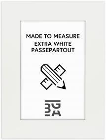 Egen tillverkning - Passepartouter Passe-partout Superwit - Op maat gemaakt (Witte kern)