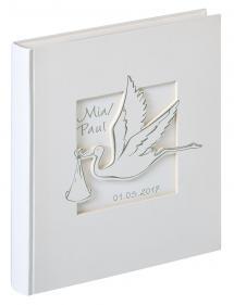Walther Cicogna Babyalbum Wit - 28x30,5 cm (50 Witte pagina's / 25 bladen)