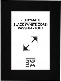 Passe-partout Zwart (Witte kern) 18x24 cm (12x17)