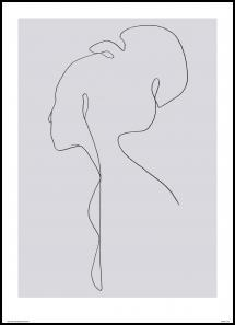 Jörgen Hansson Art Female lines III Poster