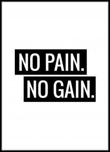 Bildverkstad No Pain No Gain Poster