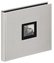 Walther Black & White Album Grijs - 26x25 cm (50 Zwarte pagina's / 25 bladen)
