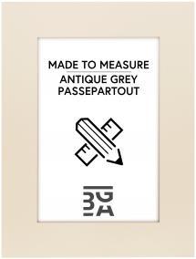 Egen tillverkning - Passepartouter Passe-partout Antique grey - Op maat gemaakt