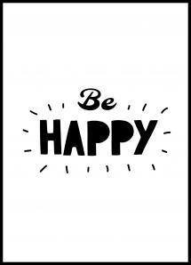 Bildverkstad Be Happy Poster