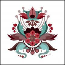 Bildverkstad Kurbits flower red Poster