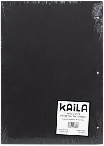 KAILA KAILA Refill Sheets - Coffee Table Photo Album 30 pcs - Black