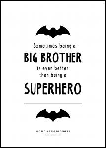 Personlig poster Superhero Brother