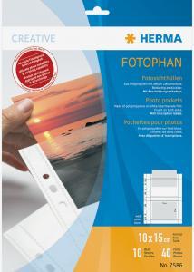 Difox Herma foto insteekhoezen 10x15 cm liggend - 10-pack witte